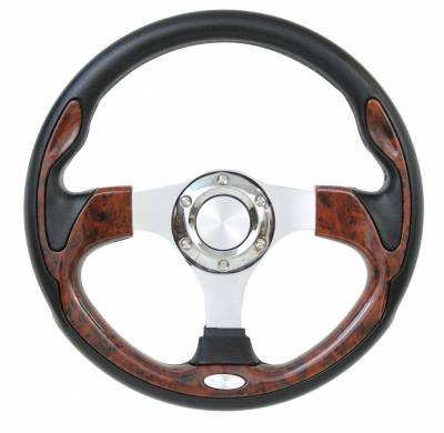"Forever Sharp Steering Wheels - 12.5"" Burlwood Pursuit Classic II Performance Steering Wheel"