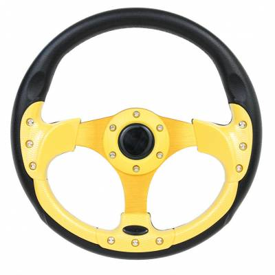"Forever Sharp Steering Wheels - 12.5"" Yellow Pursuit Performance Steering Wheel"