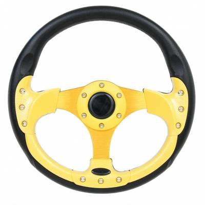 """Steering Wheels - Performance Series Wheels - Forever Sharp Steering Wheels - 12.5"""" Yellow Pursuit Performance Steering Wheel"""