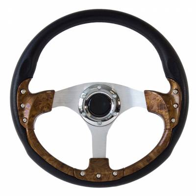 "Forever Sharp Steering Wheels - 14"" Burlwood Pursuit Classic I Performance Wheel (Light)"
