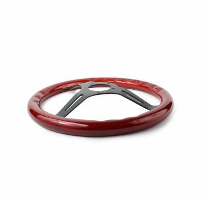 """Forever Sharp Steering Wheels - Black Split Spoke 14"""" Custom Steering wheel - Image 2"""