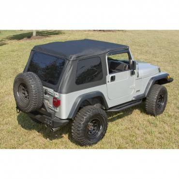 Exterior - Tops And Accessories - Rugged Ridge - XHD Soft Top, Bowless, Black Diamond; 97-06 Jeep Wrangler TJ