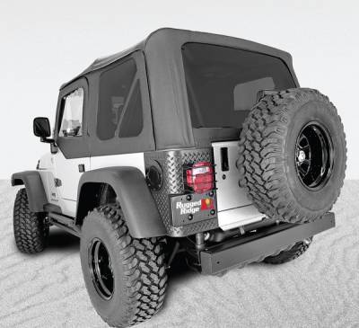 Rugged Ridge - XHD Soft Top, Black, Tinted Windows, Sailcloth; 97-06 Jeep Wrangler TJ
