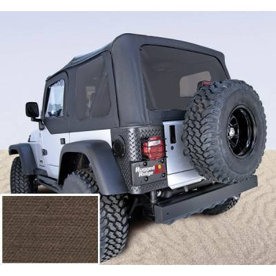 Exterior - Tops And Accessories - Rugged Ridge - XHD Soft Top, Khaki, Tinted Windows; 97-06 Jeep Wrangler TJ