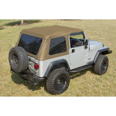 Exterior - Tops And Accessories - Rugged Ridge - XHD Soft Top, Bowless, Spice; 97-06 Jeep Wrangler TJ