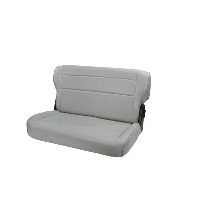 Offroad - Seats & Upholstery - Rugged Ridge - Fold and Tumble Rear Seat, Gray; 76-95 Jeep CJ/Wrangler YJ