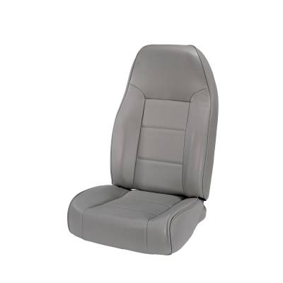 Offroad - Seats & Upholstery - Rugged Ridge - High-Back Front Seat, No-Recline, Gray; 76-02 Jeep CJ/Wrangler YJ/TJ
