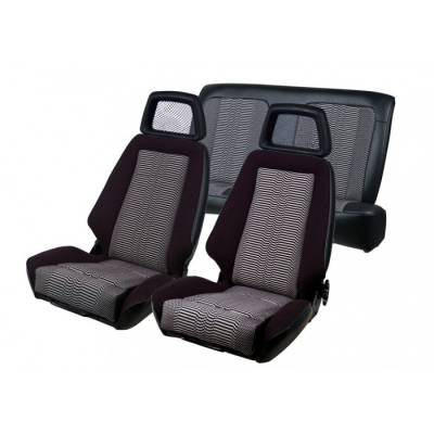 TMI Products - Recaro Sport Seat GT Upholstery for 1979 - 1982 Mustang - Coupe or Hatchback Front/Rear