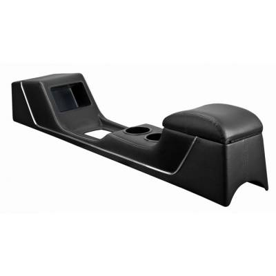 Mustang - Consoles - TMI Products - 1965-1966 Mustang SPORT R Full Length Console (No Factory Air)- (Slight Gloss Finish - Matches Original Upholstery)