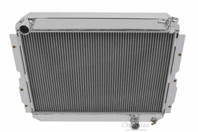 "Radiators - Aluminum Radiators - American Eagle - American Eagle Radiator AE1213 Aluminum 2 Row for 83-90 Landcruiser 1"" tubes"