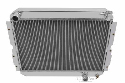 "Radiators - Aluminum Radiators - American Eagle - American Eagle Radiator AE1213 Aluminum 2 Row for 83-90 Landcruiser 1"" tubes"