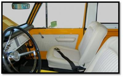 TMI Products - 1966-1967 Ford Bronco, Front Only Vinyl Replacement Seat Upholstery - Image 2