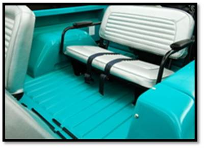 Ford Bronco - Seat Upholstery - TMI Products - 1966-1967 Ford Bronco, Rear Only Vinyl Replacement Seat Upholstery
