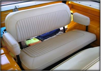 Ford Bronco - Seat Upholstery - TMI Products - 1968-1977 Ford Bronco Rear Only Vinyl Replacement Seat Upholstery