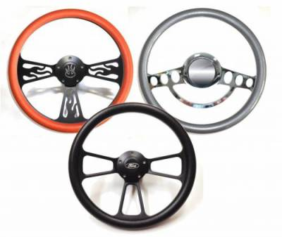 "Interior Accessories - Steering Wheels - 14"" Vinyl Half Wrap Steering Wheels"