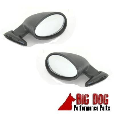 Exterior - RPC - California Classic Universal Black Hotrod/Muscle Car Side Mirror Set