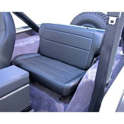 Rugged Ridge - Fold and Tumble Rear Seat, Black; 76-95 Jeep CJ/Wrangler YJ - Image 2