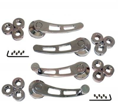 Interior Accessories - Handles and Cranks - RPC - Door Handle and Window Crank Set -- Chrome