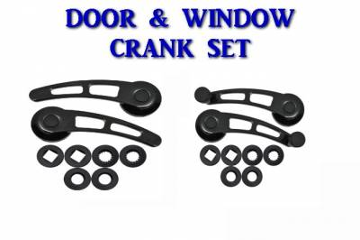 Interior Accessories - Handles and Cranks - CFR - Door Handle and Window Crank Set -- Black