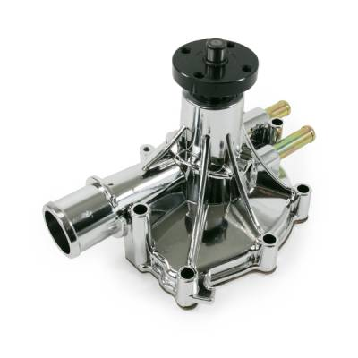 CFR - Ford Small Block 302/351 Windsor Reverse-Rotation Aluminum Water Pump Chrome - Image 1
