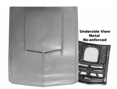 Mustang - Hoods - Dynacorn - SMC Replacement Hood for 1967 - 1968 Mustang - Scoop Style w/Steel Frame