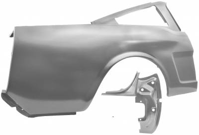 Mustang - Quarter Panels - Dynacorn - Right Hand or Left Hand Rear Quarter Panel for 1965 - 1966 Mustang Fastback