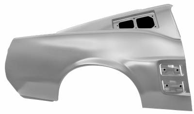 Mustang - Quarter Panels - Dynacorn - Right Hand or Left Hand Rear Quarter Panel for 1967 Mustang Fastback