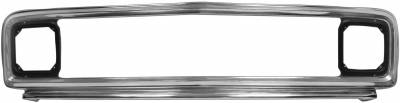 Dynacorn - Chrome Grille for 1971 - 1972 Chevy Pick Up Truck w/o Center Bar