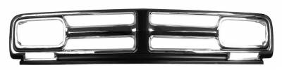 Dynacorn - Chrome Grille for 1971 - 1972 GMC Pick Up Truck