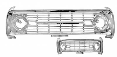 Grilles and Inserts - Bronco Grilles - Dynacorn - Grille for 1969 - 1977 Ford Bronco - Chrome