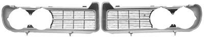Grilles and Inserts - Firebird Grilles - Dynacorn - Grille for 1968 Firebird - Chrome