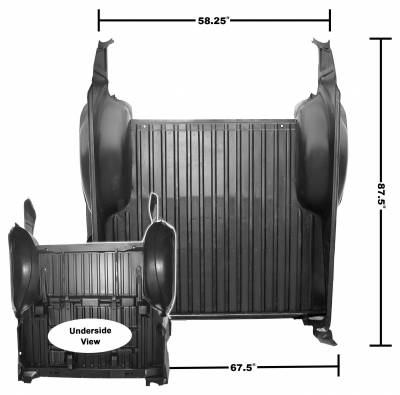 Dynacorn - Complete Bed Panel Assembly for 1968 - 1972 El Camino
