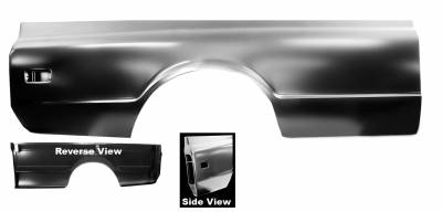 "Chevy & GMC Trucks - Bed Parts - Dynacorn - 1968 - 1972  ""Fleetside"" 8' Bedside Panel - Right or Left Side"