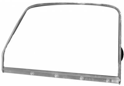 Dynacorn - Door Glass w/Chrome Trim for 1947 - 1950 Chevy Truck