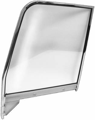 Window Glass - Chevy Pick Up Window Glass - Dynacorn - Door Window Frame w/Clear Glass for 1955 - 1959 Chevy Truck