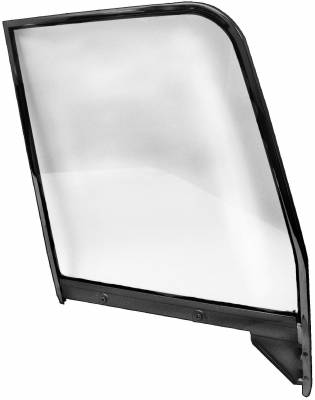 Window Glass - Chevy Pick Up Window Glass - Dynacorn - Door Window Painted Frame w/Clear Glass for 1955 - 1959 Chevy Truck