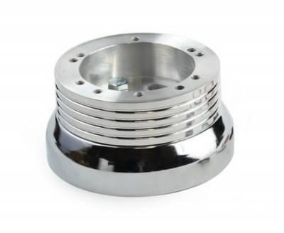 """Forever Sharp - 15"""" Mahogany & Chrome Steering Wheel - Euro Split Spoke - Full Install Kit - Image 3"""