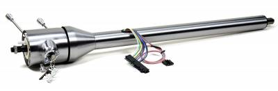 """Ididit - Ididit Universal Shorty 16"""" Tilt Floor Shift Steering Column with id.CLASSIC Ignition - Paintable Steel"""