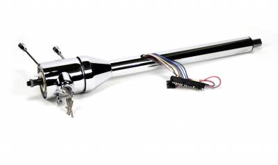 "Universal Tilt Floor Shift Columns - 30"" Columns - Ididit - Ididit Universal 30"" Tilt Floor Shift Steering Column with id.CLASSIC Ignition - Chrome"