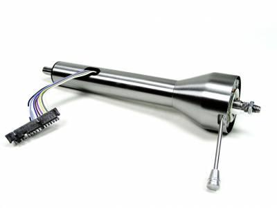 """Ididit - Ididit Universal 16"""" Straight Floor Shift Steering Column - Paintable Steel."""