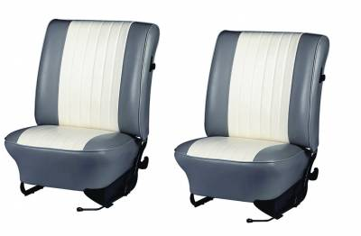 TMI Products - 1965-1967 VW Volkswagen Bug Beetle Original Style w/Insert Seat Upholstery, Front Only - Any Color Combo