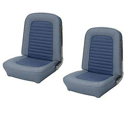 Mustang - Seat Upholstery - TMI Products - Standard Upholstery for 1966 Mustang Coupe Rear Bench Seat - Med. Blue