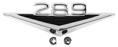 Scott Drake - 1965 - 1966 Mustang 289 Fender Emblem - PAIR for Both Sides of Car - Image 2