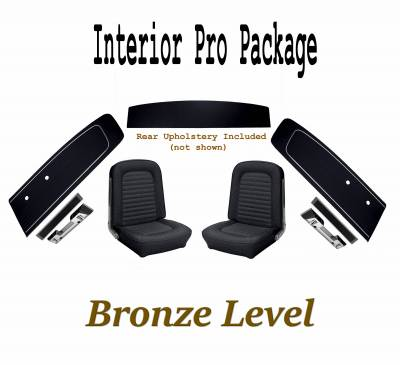 TMI Products - Interior Kit Bronze Pro Package (Black) for 1966 Mustang Coupe
