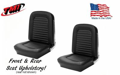 TMI Products - Interior Kit Silver Pro Package (Black) 1966 Mustang Coupe - Image 4