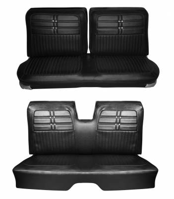 Seat Upholstery - Bench Seat Upholstery - Distinctive Industries - 1963 Impala Split Front & Rear Bench Seat Upholstery