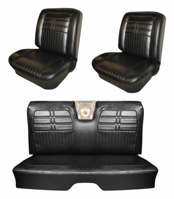 Seat Upholstery - Bucket Seat Upholstery - Distinctive Industries - 1963 Impala Front Bucket & Rear Bench Seat Upholstery