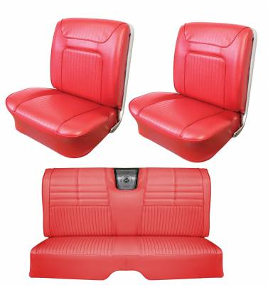 Seats & Upholstery  - Distinctive Industries - 1964 Impala SS Front Bucket & Rear Bench Seat Upholstery