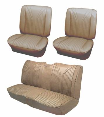 Seat Upholstery - Bucket Seat Upholstery - Distinctive Industries - 1965 Impala SS Front Bucket & Rear Bench Seat Upholstery
