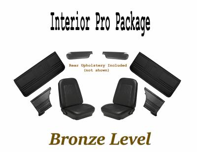 1967 - 1969  - Upholstery - TMI Products - 1967 Camaro Interior Kit Bronze Pro Package (Black)